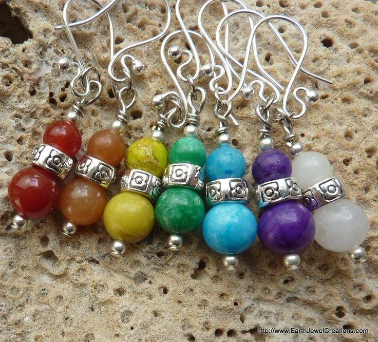 Chakra Gemstone Earrings - Inspirational handmade gemstone jewellery Earth Jewel Creations Australia