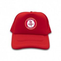 RedPopular Trucker Hat Houston Rockets NBA Logo 2016 100% cotton Sun cap for mens womens