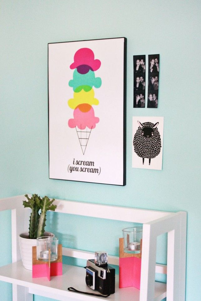 You better believe this ice cream wall art is DIY.