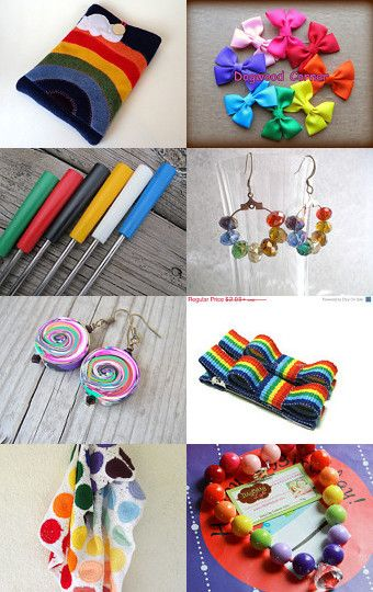 Rainbow of colors by Carol