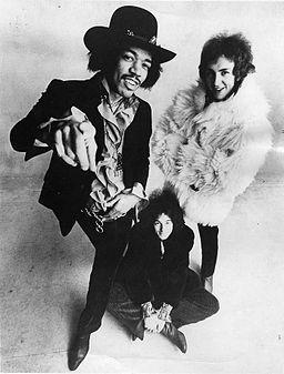 """""""The Jimi Hendrix Experience"""" en 1968."""