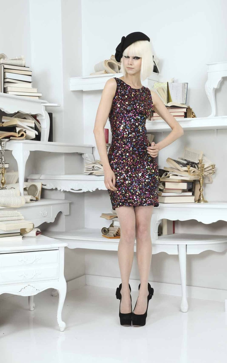 MONA MINI FITTED SEQUIN DRESS - Wouldn't it be awesome if i could afford this AND had a reason to wear it.  Talking about the beret, of course.