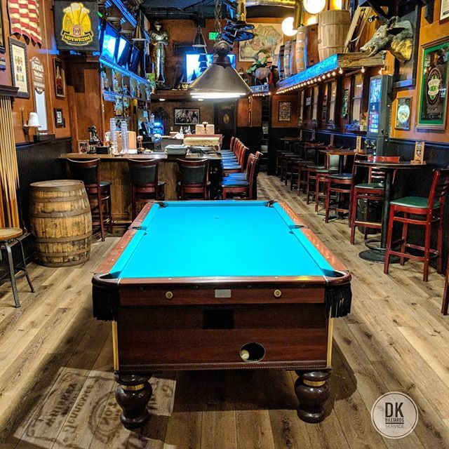 All Done Refelting This Bar Pool Table At Patsy S Irish Pub