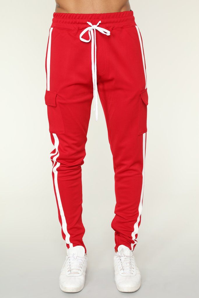 15c6406a1f2dd Post Cargo Track Pants - Red Combo in 2019