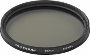 Platinum - 49mm Circular Polarizer Lens Filter - Black - Angle Zoom