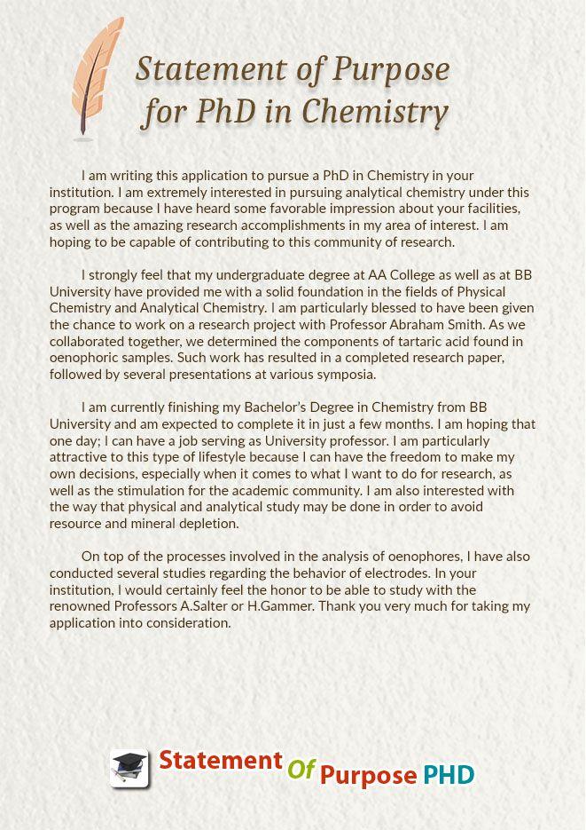 Statement Of Purpose For Phd In Chemistry Statement Of Padhaaii Sample Resume Essay