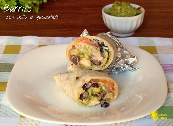 Burrito+con+pollo+e+guacamole