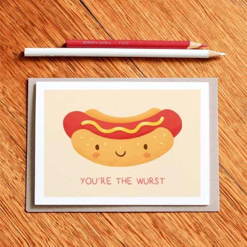 Hot Dog Puns Google Search Kids Birthday Cards Pinterest