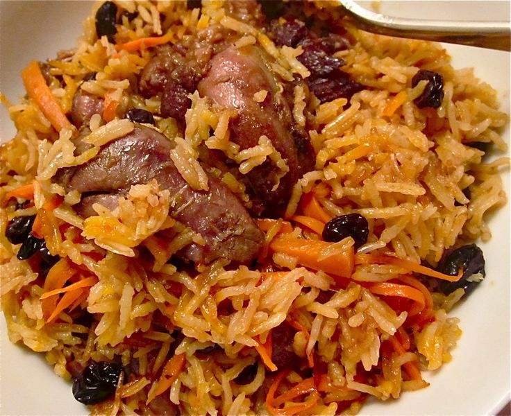 Qabili Pilau: Afghan baked rice with lamb - This is SO good!!