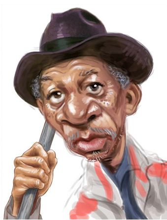 Morgan Freeman Artist: Ed Wexler website: http://www.edwexler.com/caricatures3.html