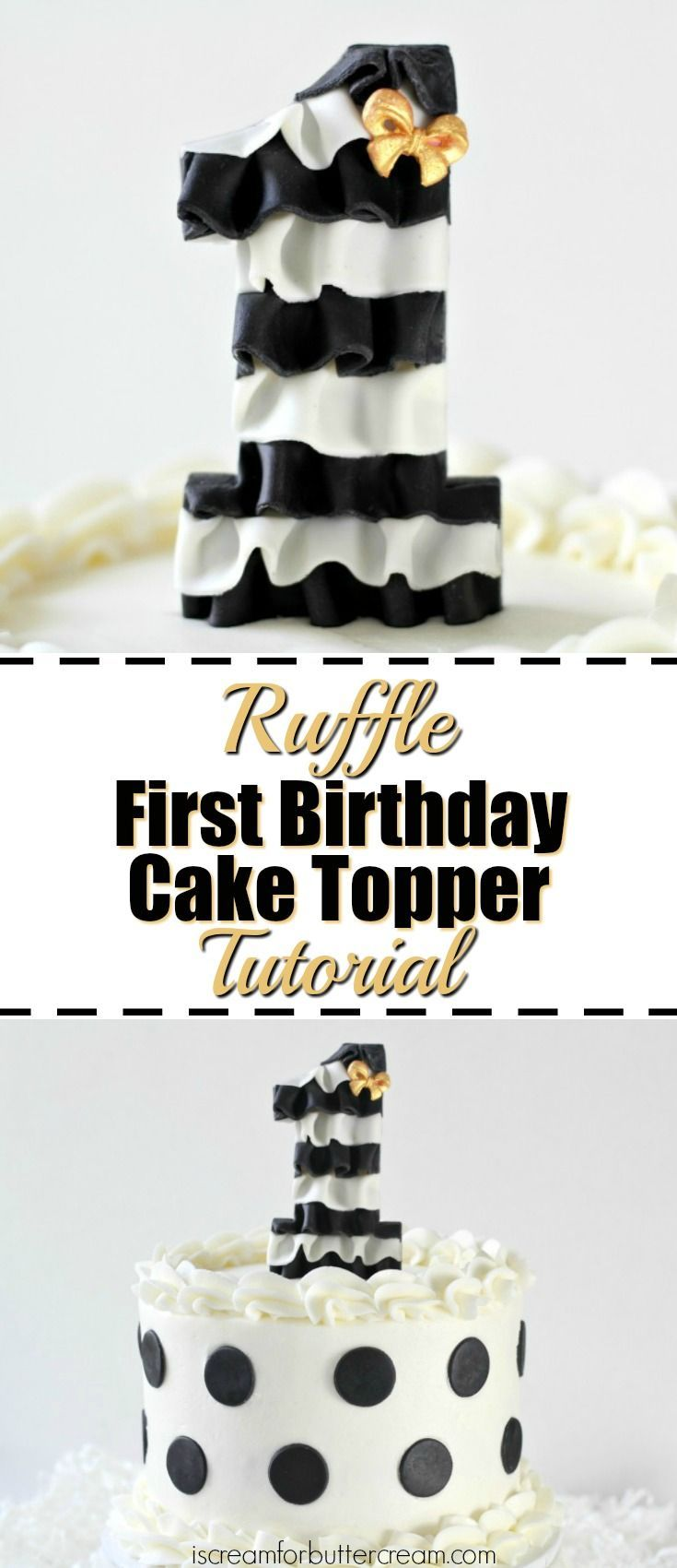 These DIY cake toppers are a quick and easy way to decorate a first birthday cake. Just pop one into your cake and you've got a beautiful custom look.