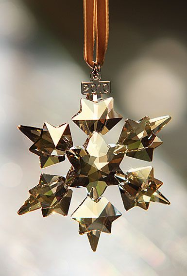 SWAROVSKI SCS 2010 Gold Christmas Ornament Star limited edition brand new - SWAROVSKI SCS 2010 Gold Christmas Ornament Star Limited Edition