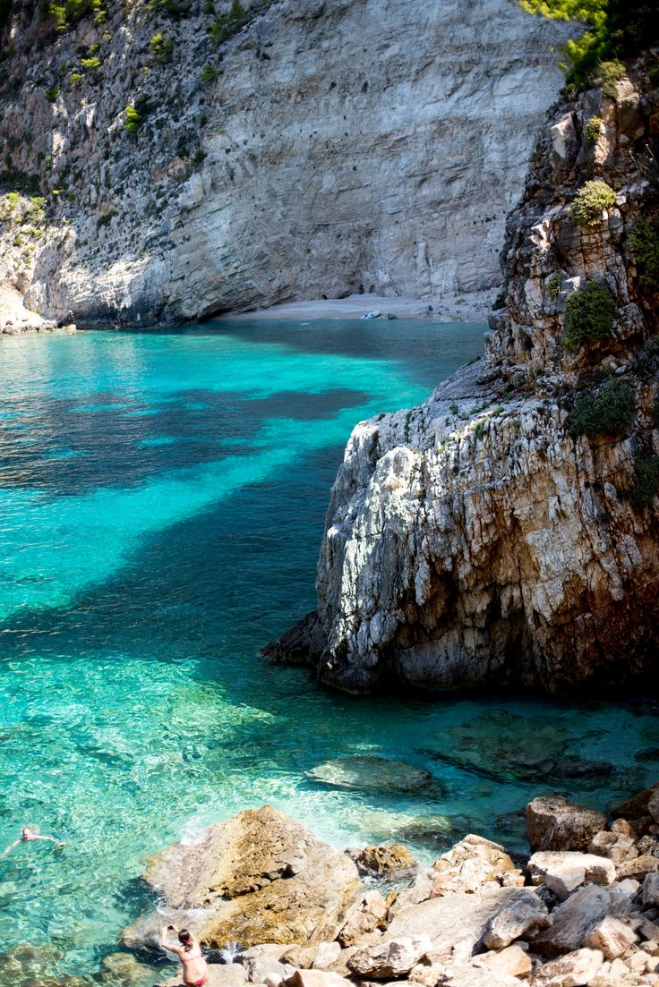 Zakynthos , Greece...an island with blue waters and hidden coves...are a secret to behold .