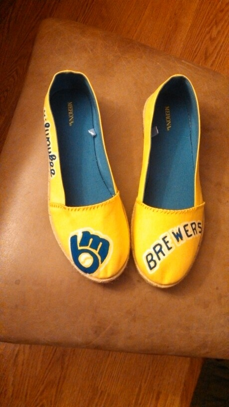 Milwaukee Brewers Shoes.. so cute!