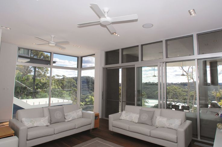 The Hunter Pacific Concept 2 ceiling fan features a modern design with four timber blades making it a great option for either a bedroom or living area.