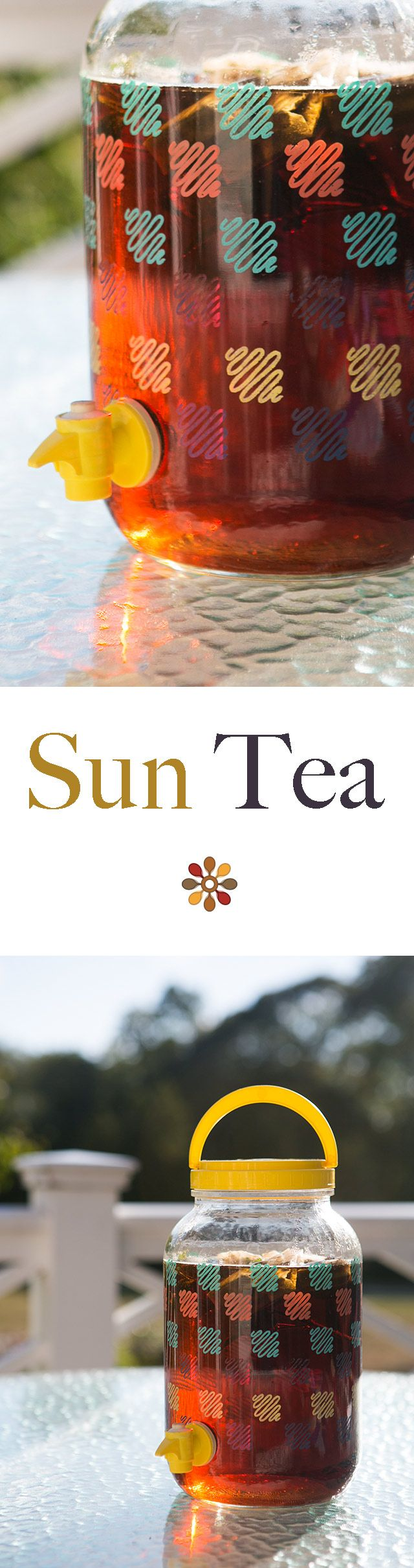 Sun Tea ~ A great way to make some tea without heating up your kitchen is to use the power of the sun to make sun tea. ~ SimplyRecipes.com
