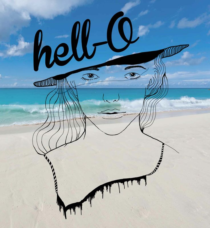 Hell-O from the beach