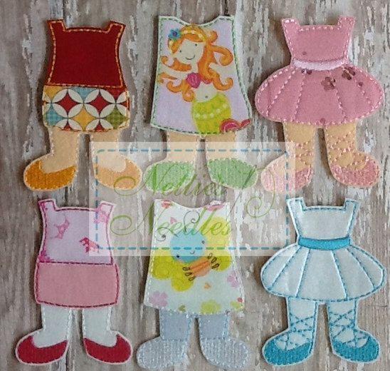 NEW Felt Girl Doll Toddler Dress Up Set by NettiesNeedlesToo, $15.00