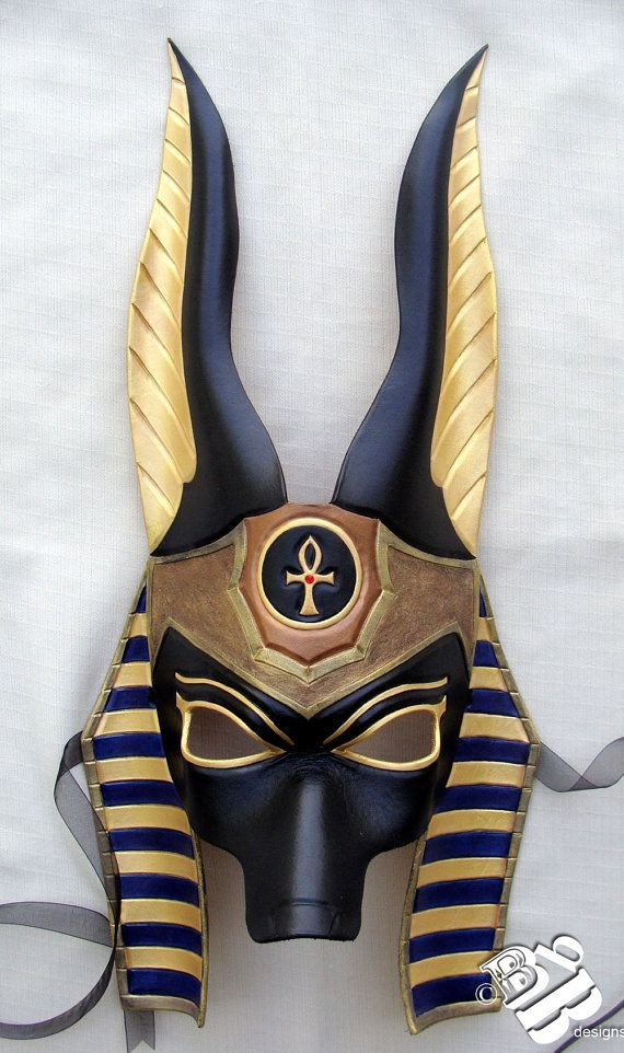 Egyptian Jackal Anubis Leather Mask by B3leatherdesigns on Etsy, $150.00. Follow…