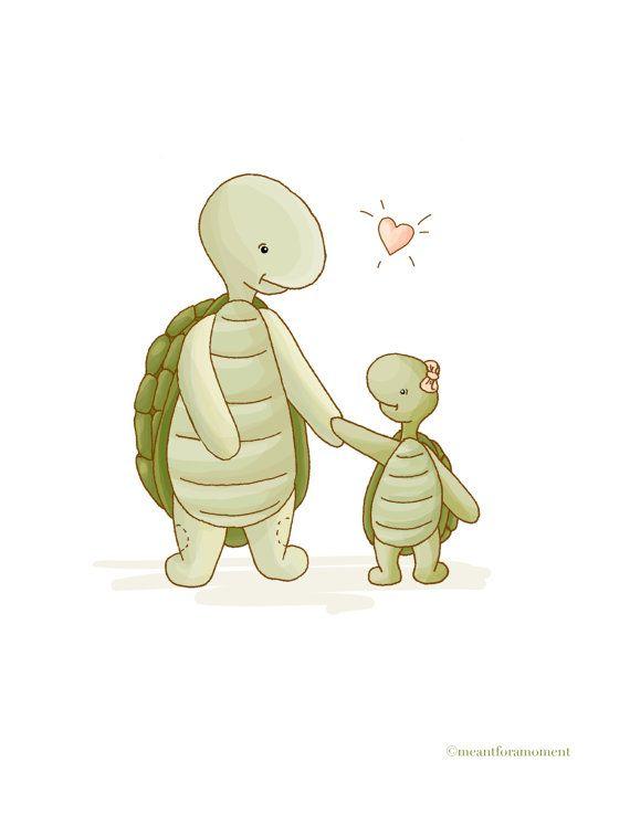 Turtle LOVE, Nursery Decor, Wall Art Children, Baby Turtle, FATHER''s Day