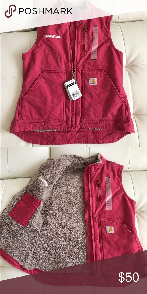 BRAND NEW - Pink Women's Carhartt Bassmaster Vest! Brand New with Tags! Women's pink Carhartt Bassmaster Vest! Carhartt Jackets & Coats Vests