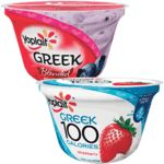 Save $1.00 on 5 Yoplait® Greek Yogurt when you buy FIVE CUPS any variety Yoplait® Greek yogurt.