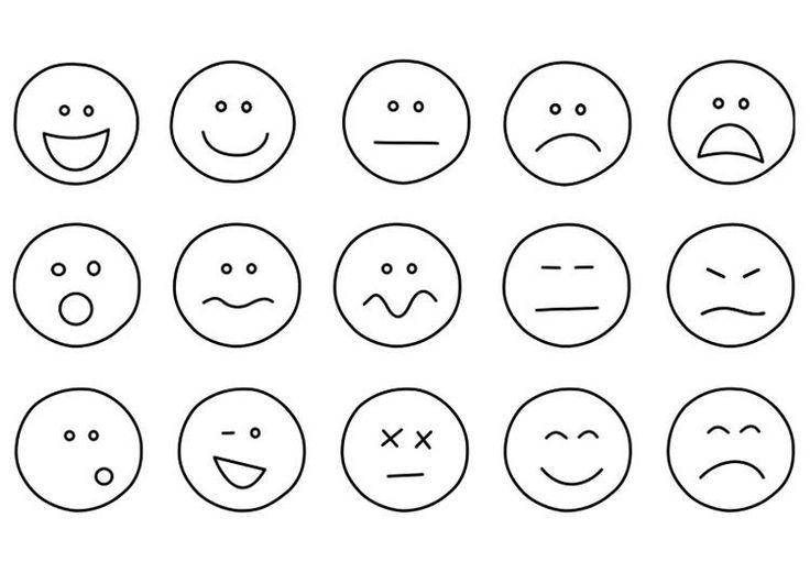 ~Emotie gezichtjes-leuk om te gebruiken bij het bespreken van gevoelens~