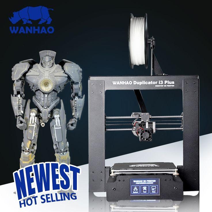 379.00$  Watch here - http://alitvl.worldwells.pw/go.php?t=32781307800 - 2016 New WANHAO Duplicator I3 PLUS Steel Frame Desktop Prusa 3D Printer digital Printer 3D Machine