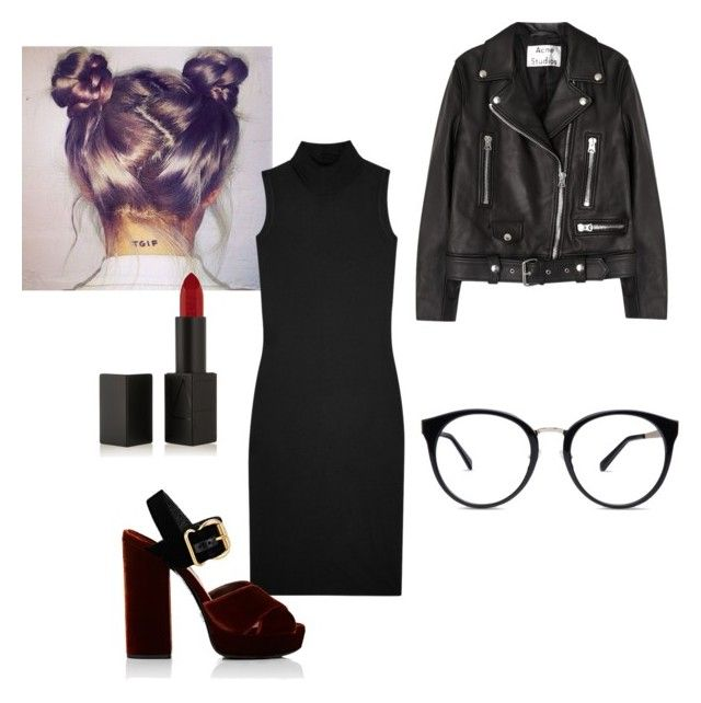 """Untitled #30"" by manjap on Polyvore featuring Rick Owens, Prada, Acne Studios and NARS Cosmetics"