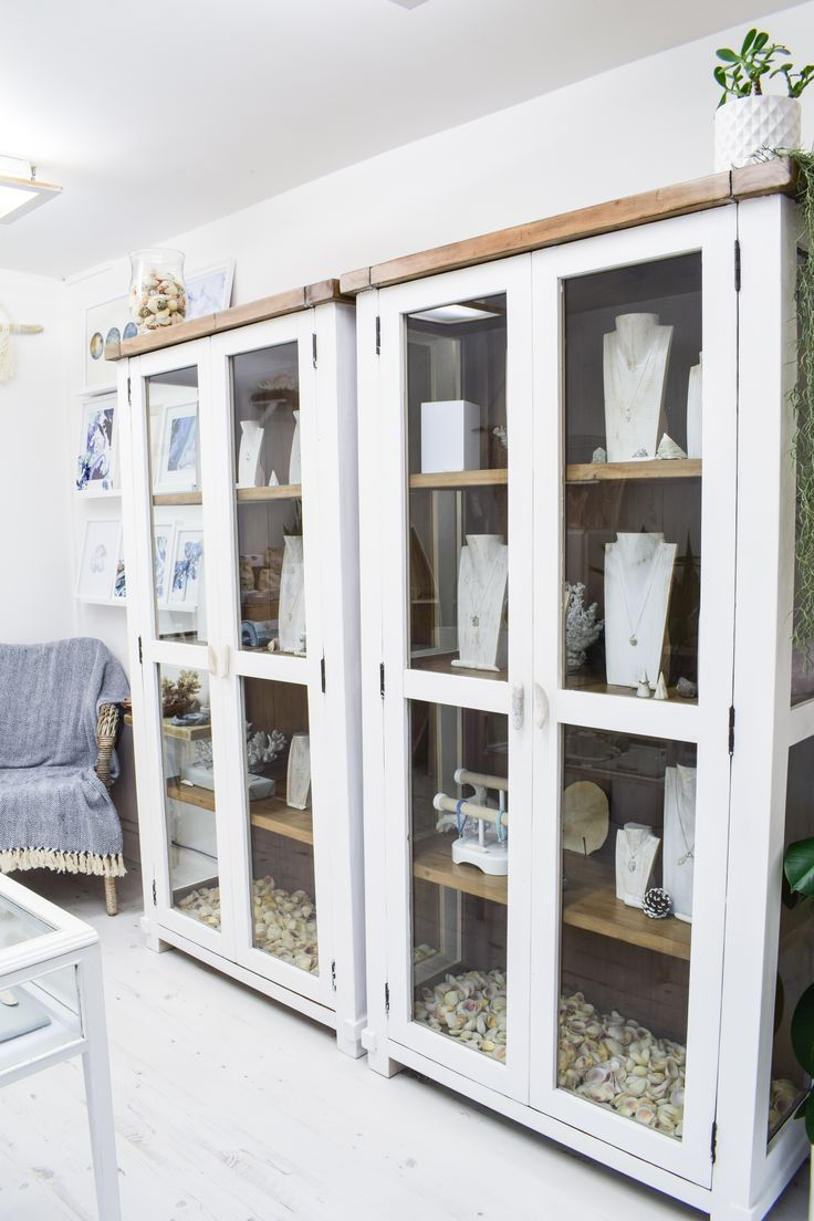 Reclaimed wood cabinets with driftwood handles