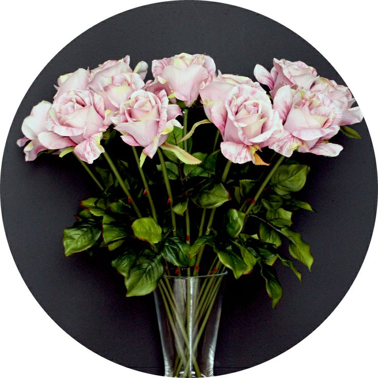 Serene, blowsy mauve faux roses from Natural History  http://natural-history.myshopify.com/collections/flowers