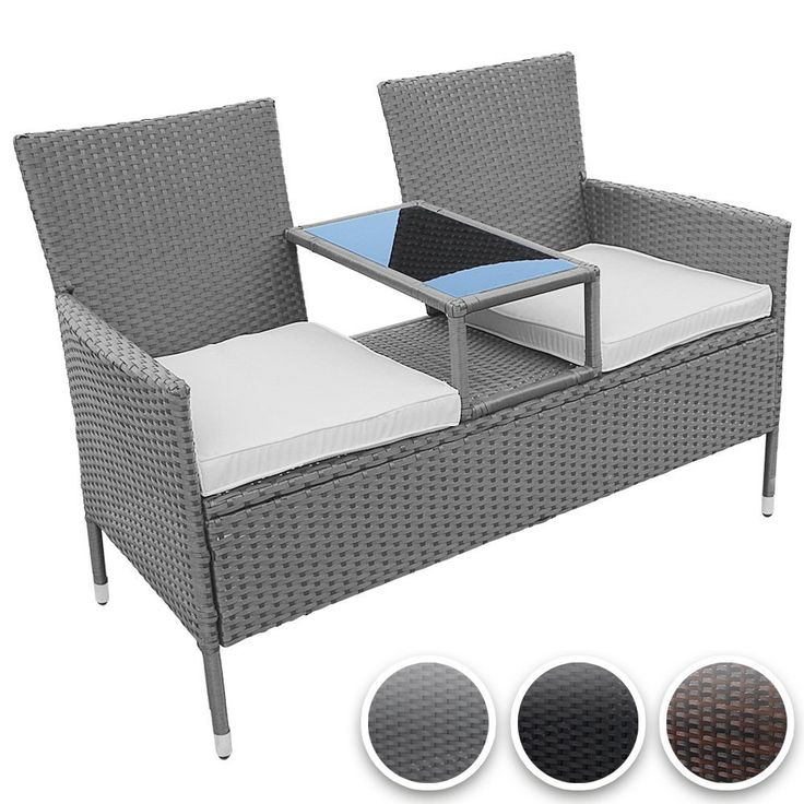 13 besten rattan gartenbank bilder auf pinterest. Black Bedroom Furniture Sets. Home Design Ideas