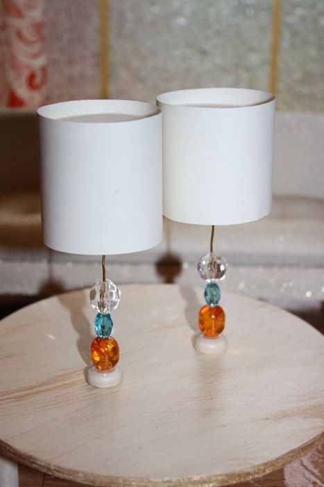 Tutorial for miniature beaded lamps