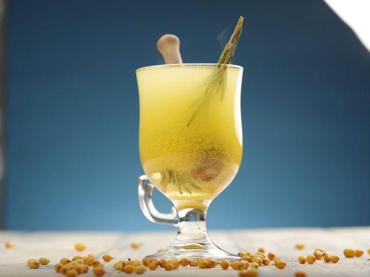 Облепиховый чай с розмарином и медом #ilovecooking #tea #rosemary