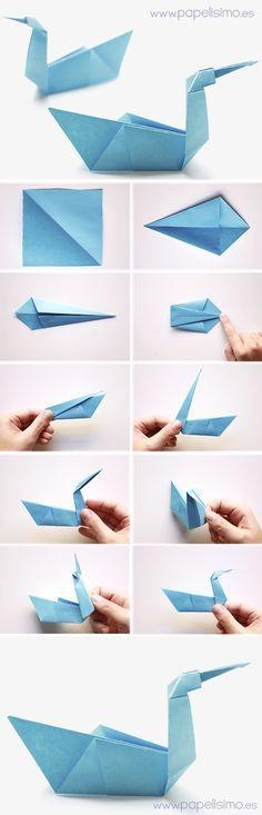 Animales de Origami: Pájaro de papel   Aprender manualidades es facilisimo.com