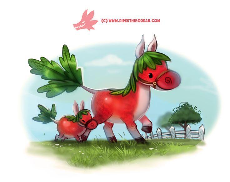 Daily Paint #1272. Horseradish by Cryptid-Creations.deviantart.com on @DeviantArt