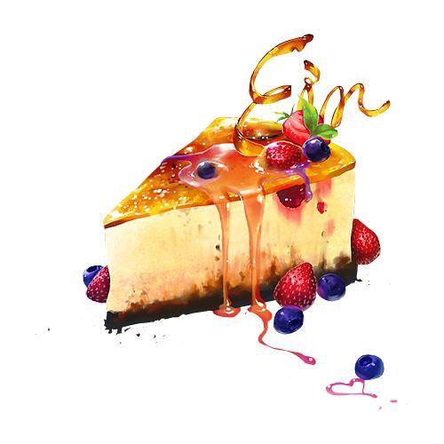 Food Watercolor | Fruit Cheesecake