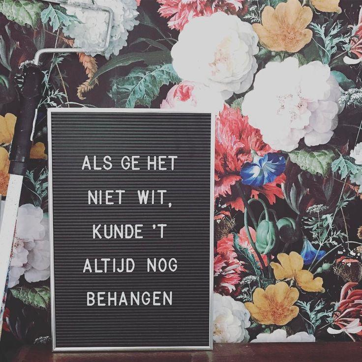 #kwantuminhuis Behang JAN DAVIDSZ > https://www.kwantum.nl/behang-en-verf/behang @klussoof