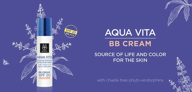 5 unique actions in 1 cream! Discover the #AquaVita #BBcream!!! Source of life and colour for the skin!!! 24-hour hydration for all skin types with chaste tree phyto-endorphins  that offers medium coverage, radiant look and the highest possible UVA protection 24-hour hydration for all skin types with chaste tree phyto-endorphins in a double encapsulation system and patented propolis extract that offers medium coverage, radiant look and the highest possible UVA protection