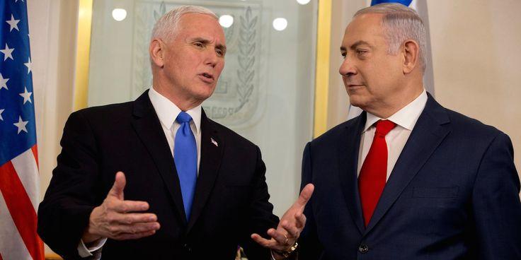 Benjamin Netanyahu noticeably didnt applaud a key part of Mike Pence's big speech to Israel's parliament