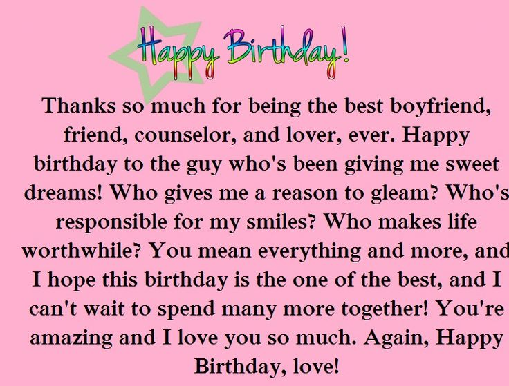 birthday paragraphs for your boyfriend happy wishes far away friend quotes pinterest