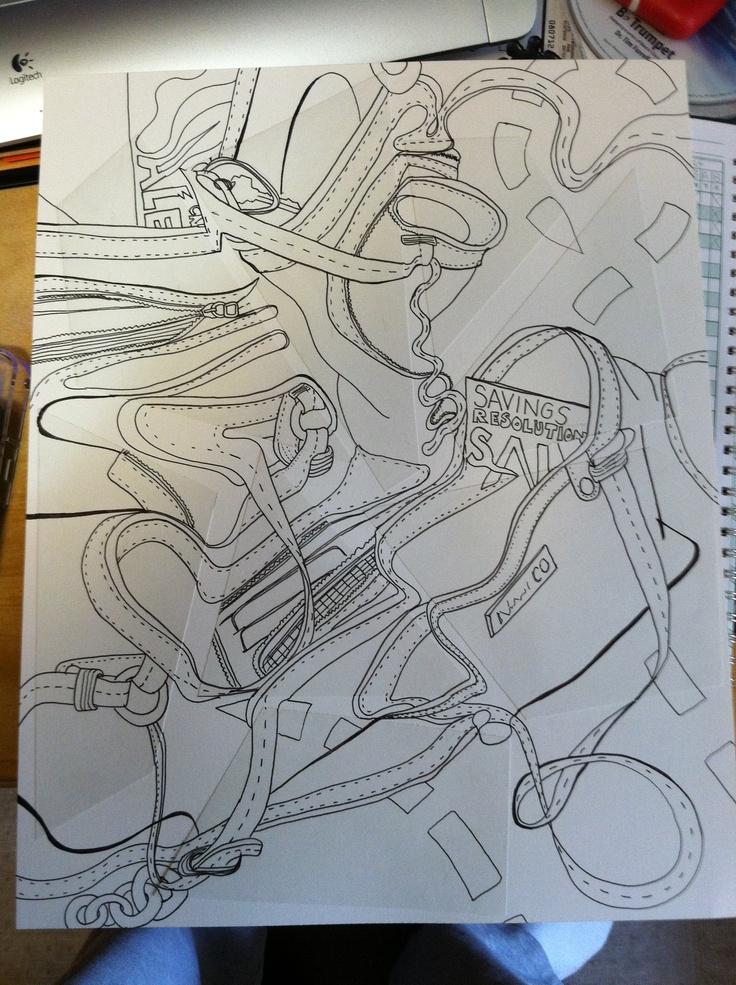 Contour Line Drawing Th Grade : Best contour line drawing images on pinterest