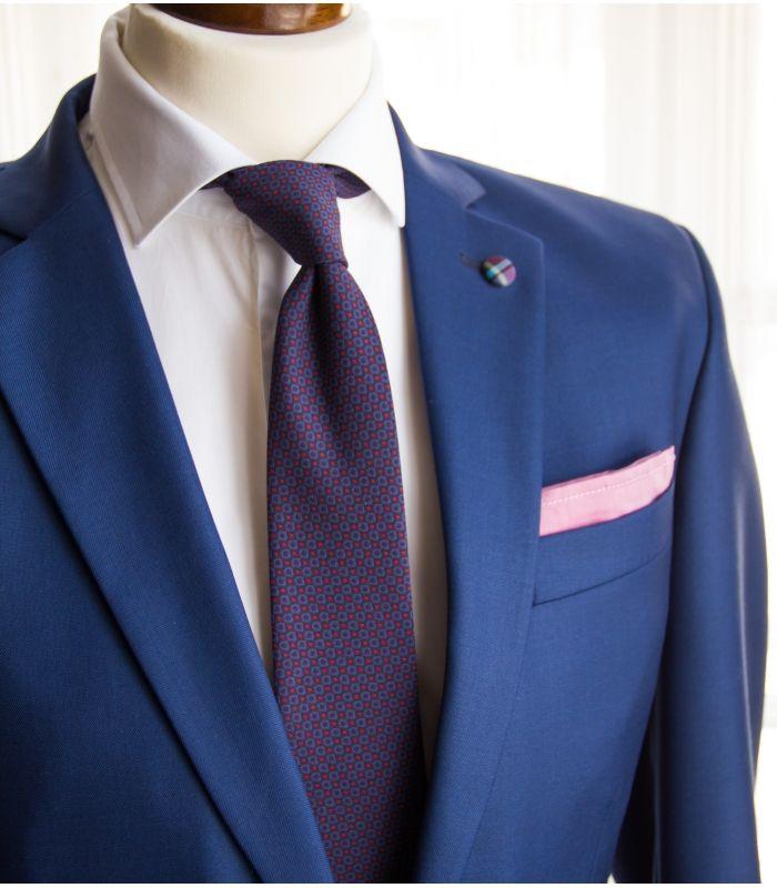 Navy/purple circles necktie