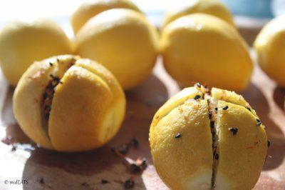 Preserved Lemons with Nigella Seeds and Dried Safflower | mideats.com