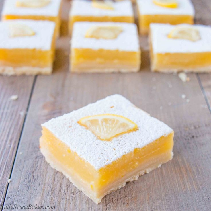 A thick layer of tangy lemon curd baked over top of a tender buttery shortbread crust. These lemon bars are an explosion of zesty lemon flavor.