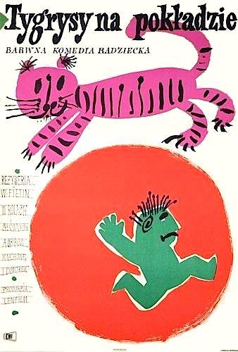 1961 Polish movie poster by Jan Mlodozeniec