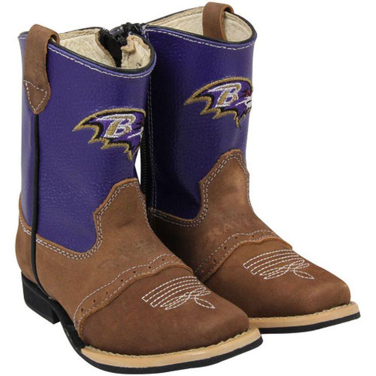 Baltimore Ravens Toddler Quarterback Roper Cowboy Boots - Brown/Purple