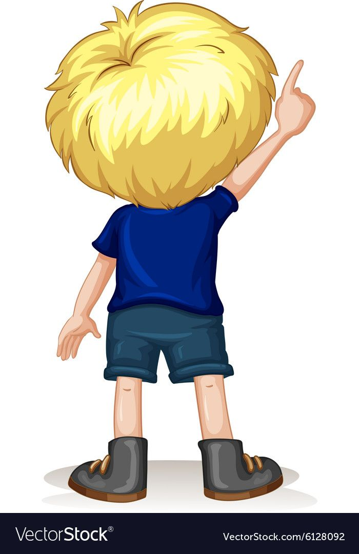 Back Of Little Boy Pointing Up Download A Free Preview Or High Quality Adobe Illustrator Ai Eps Pdf And High Easy Cartoon Drawings Little Boys Illustration