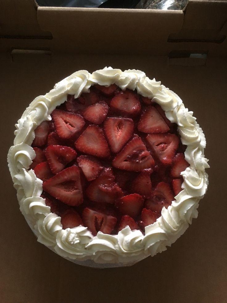 Strawberry jello cake made by Natalie