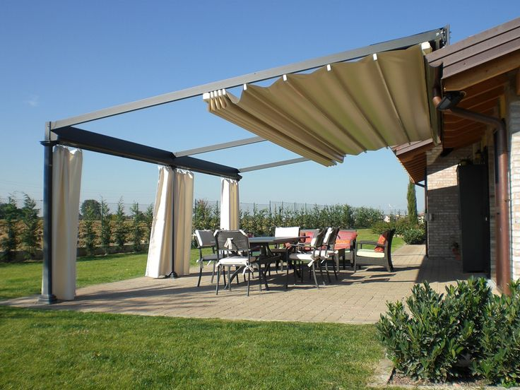 Wall Mounted Iron Pergola Electric Roof By Unosider Home Decoration Ideas